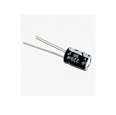 20PCS 220uF 50V Electrolytic Capacitor 105°C 8x12mm