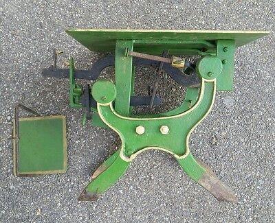 Alte Dezimalwaage/Krämerwaage  Fabrikat um 1910 Farbe  Grün 3