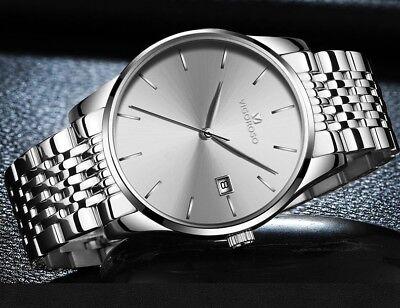 Men's Waterproof Military Sport Date Analog Quartz Wrist Watch Business Watches 5