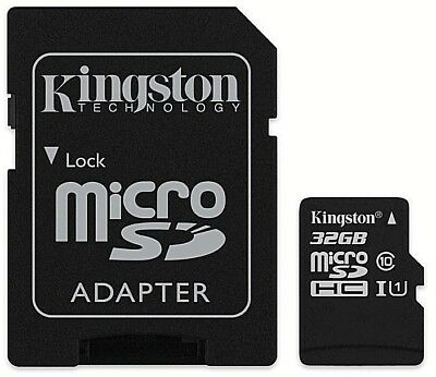 Kingston Micro SD SDHC memory Card Class 10 32GB Memory with SD card Adapter 10