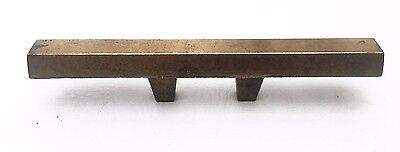 """Brass Mid Century Modern Drawer Pull Vintage  Antique Hardware  1 3/8"""" centers 6"""