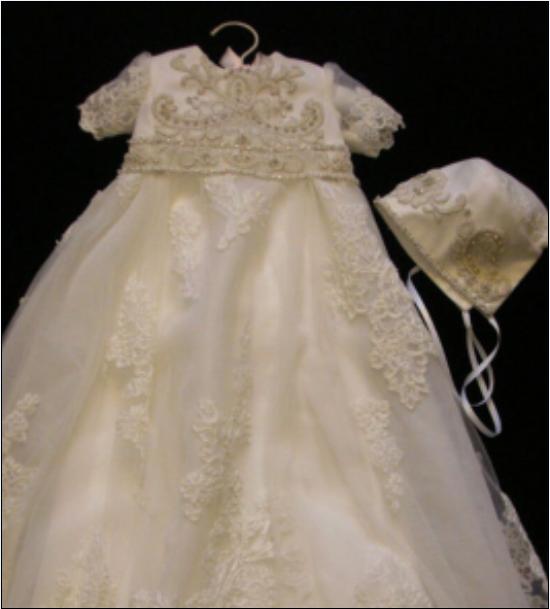 NEWBORN VINTAGE INFANT Baptism Dresses Lace Baby Ivory White ...