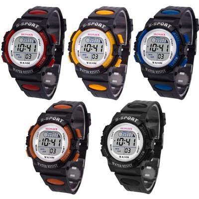 LED Sports Watch Kids Date alarme numérique montre cadeau enfants garçon 7