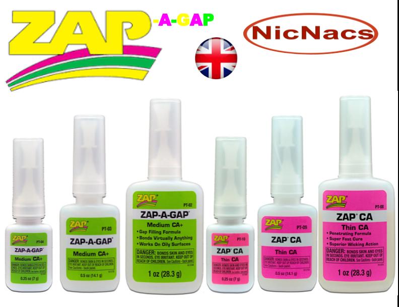 Zap a Gap Glue C A Medium & Thin Quick Setting SuperGlue Cyanoacrylate by Pacer 3