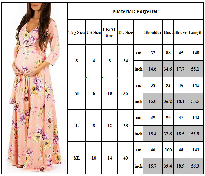 Maternity Women Lace Photography Long Pregnant Boho Maxi Gown Party Dress Props 7