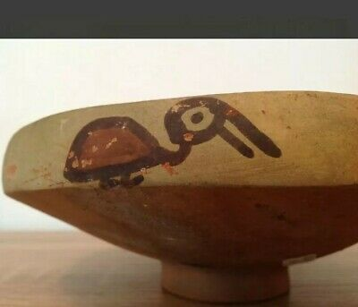 Pre-Columbian pottery bowl with birds - Ica culture Peru - 19 cm 9