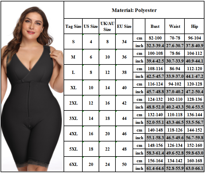 Women Body Shaper Girdle Strong Support Shapewear Slim Cincher Corset Plus Size 2