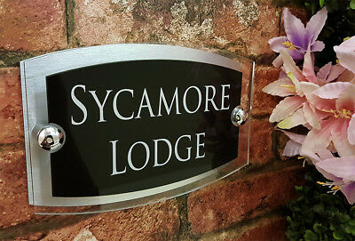 Contemporary House Signs Plaques Door Numbers 1 - 999 Personalised Name Plate 6