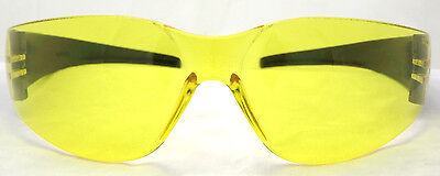 New Yellow Tinted Anti-Fog Motorcycle Sunglasses/Biker Wraps + Pouch Inc Postage