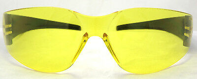 New Yellow Tinted Anti-Fog Motorcycle Sunglasses/Biker Wraps + Pouch Inc Postage 3