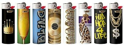 BIC Special Edition Hip Nation Series Lighters Set of 8, 2019-2020 Designs New! 2
