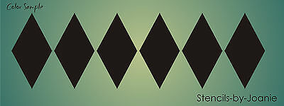 "Stencil 1.5/"" T Harlequin Diamond pattern Wall Art Shabby Cottage Chic Background"