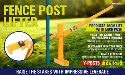 Fence Post Lifter Puller Star Picket Remover Steel Pole Fencing Farming Tool New 2