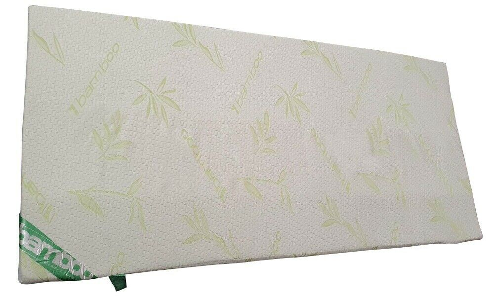 Ultra Soft Bamboo Memory Foam Mattress Topper Enhancer With Removable Zip Cover 2