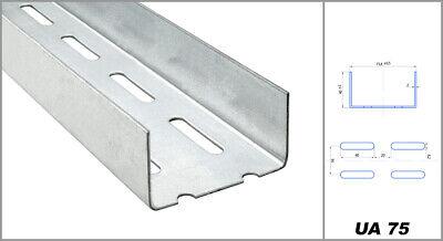 50mm CW-Profil 2,6m C Wand Profil Ständerwerkprofil Ständerwerk Trennwandprofil