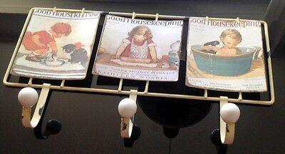 Wandhaken Motiv Schild Eisen 42,5x23,5 cm Vintage Ästhetik Haus Handtuch Halter 2