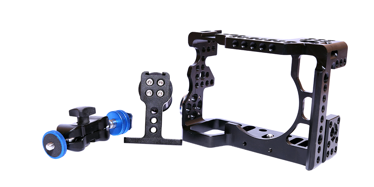 Camgear Cage+Top Handle+Ball Head for Sony Alpha A7II/A7RII/A7SII Camera 7
