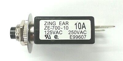 Zing Ear ZE-800-10A Fuse Holder Style Breaker Replaces NTE-R59-10A