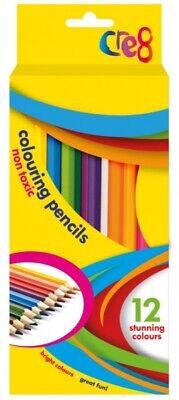Colouring Pencils Markers Felt Tips Wax Crayons School Stationery Tip Art Assort 3