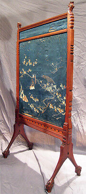 Asian Influennced American Aesthetic Movement Fire-Screen With Parrots 9
