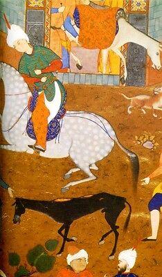 Persian Painting 16th Century Royal Safavid Manuscripts Palaces Warriors Gardens 8