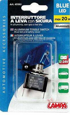 a 3 contatti spia a led BLU 12V 20A Lampa Interruttore a leva tuning auto