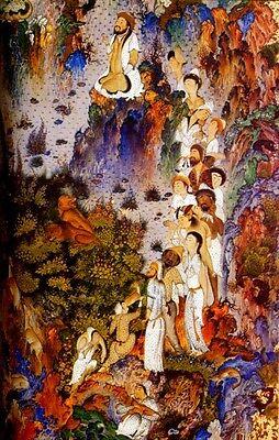 Persian Painting 16th Century Royal Safavid Manuscripts Palaces Warriors Gardens 3
