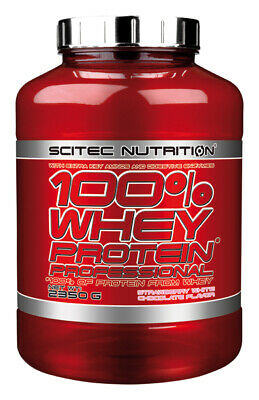 Scitec Nutrition 100 Whey Protein Professional 2350g Eiweiß Shake mit zus. BCAAs 10