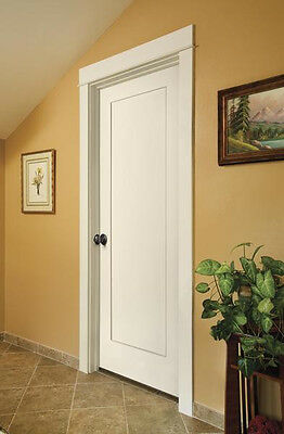 Merveilleux 2 Of 8 Madison 1 Panel Primed Smooth Molded Solid Core Wood Composite  Interior Doors