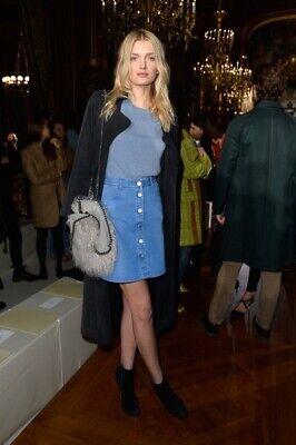 Stella McCartney Size 29 Denim Button Down Skirt Medium Length Casual Summer 7
