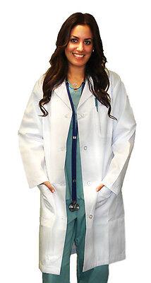 Medical White Unisex Long Lab Coats XS S M L XL 2XL 3XL For Men Women Lab Coat