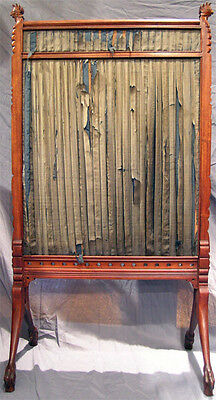 Asian Influennced American Aesthetic Movement Fire-Screen With Parrots 5