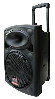 10 inch 500W Mobile PA Sound System Battery BT/MP3/USB/SD Mic Portable Speaker