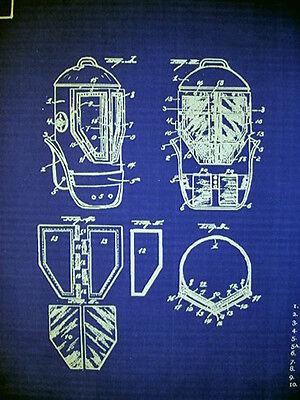 Vintage diving helmet 1923 patent drawings blueprint display 23x28 1 of 3 vintage diving helmet 1923 patent drawings blueprint display 23x28 181 malvernweather Gallery