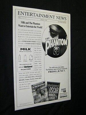 1996 ORIGINAL D//S PRINT POSTER 12x18 BILLY ZANE THE PHANTOM Milk,Got Milk?