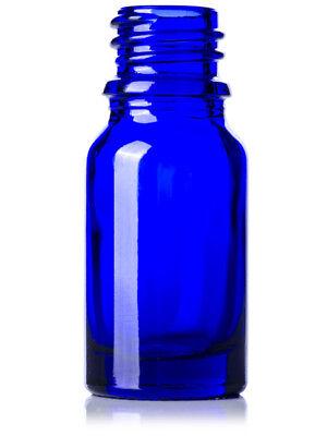 39 PCS 15ml [1/2 oz] COBALT BLUE Boston Round Glass Bottle with Cone liner Caps 2