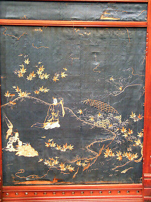 Asian Influennced American Aesthetic Movement Fire-Screen With Parrots 3
