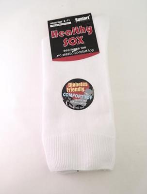 Men's Diabetic Loose Top Medical Circulation Socks Wide Top SEAMLESS SMOOTH TOE 6