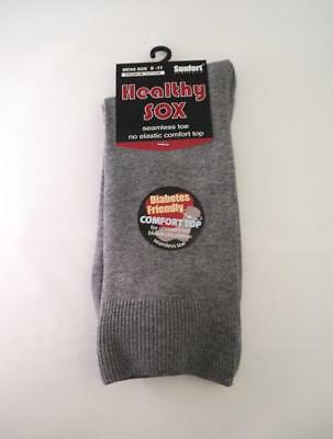 Men's Diabetic Loose Top Medical Circulation Socks Wide Top SEAMLESS SMOOTH TOE 5