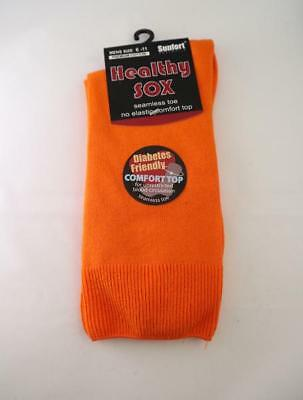 Men's Diabetic Loose Top Medical Circulation Socks Wide Top SEAMLESS SMOOTH TOE 9