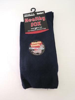 Men's Diabetic Loose Top Medical Circulation Socks Wide Top SEAMLESS SMOOTH TOE 7
