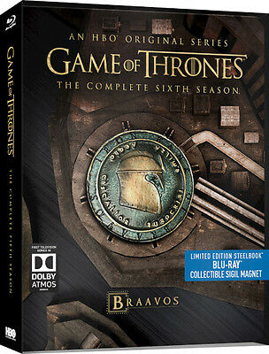 Game of Thrones Season 6 - Limited Edition Steelbook (Blu-ray) BRAND NEW!! 2