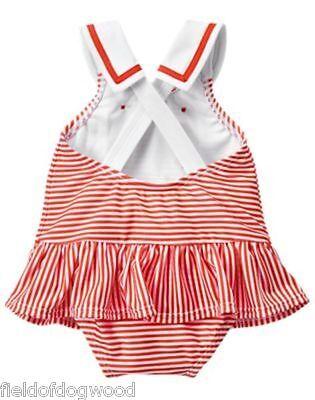 NWT Gymboree SWIM SHOP GAZEBO PARTY Sailor Swimsuit 0 3 6 6 12 M Baby Girls