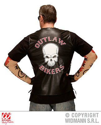Punk Rocker Biker Gothic Pop Star 70's 80's biker YMCA Men Women Accessories UK 8
