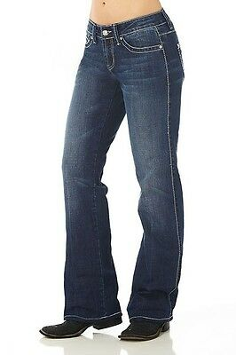COWGIRL UP Molly Women/'s Midrise Distressed Stretch Boot Cut Jeans CGJ909151 NWT