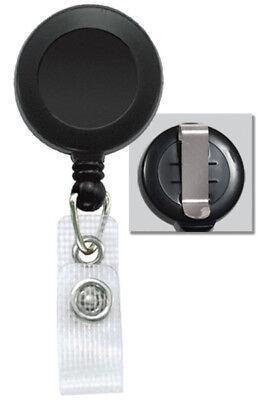Retractable Card Holder Reel ID Key Badge Tag Clip Reinforced Vinyl Strap 2