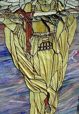 Stained Glass Window, Angel with Sword, attrib. Tiffany #5753 3
