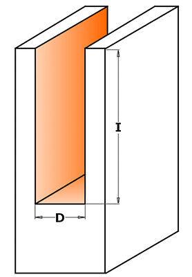 CMT Vollhartmetall Spiralnutfräser positiv Ø 3-12mm, Schaft 8mm VHM
