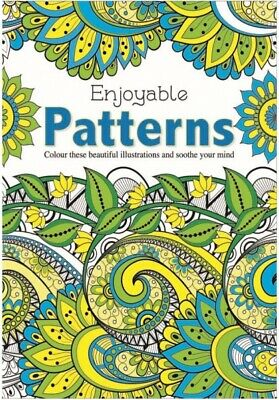 2 x NEW EDITION Patterns & FLOWERS Adult Colouring Book Books, anti stress calm 7