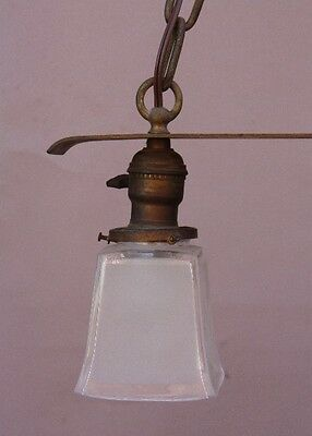 Early 20th Century Copper 2 Light Chandelier Antique Arts & Crafts (9759) 2